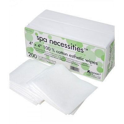 ESTHETIC WIPES 4X4 100 % COTTON 200CT - Nails Plus Depot