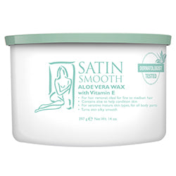 SATIN SMOOTH ALOE VERA WAX 14 OZ. - Nails Plus Depot
