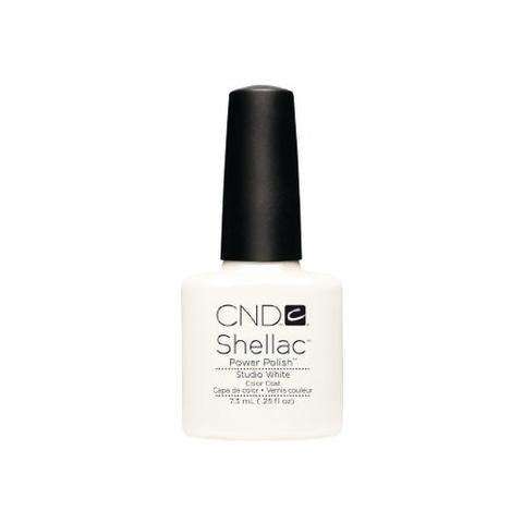 CND SHELLAC -  STUDIO WHITE  .25 OZ. - Nails Plus Depot