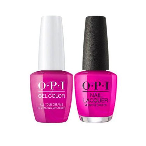 OPI GelColor + Matching Nail Lacquer All Your Dreams In Vending Machines - Nails Plus Depot