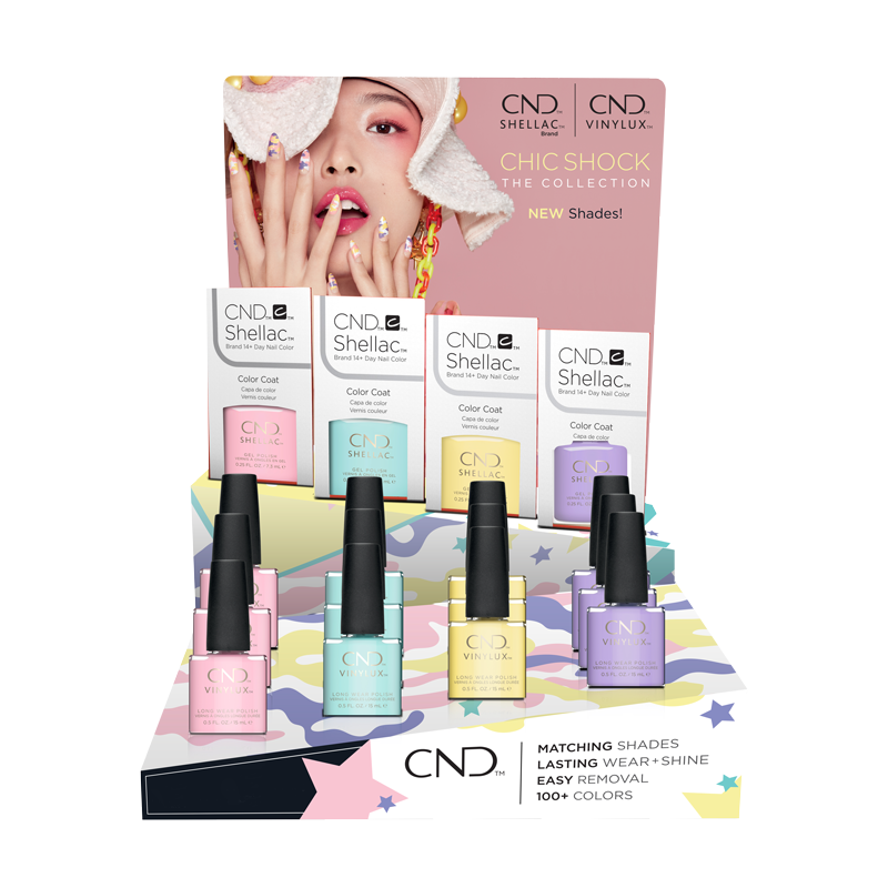CND CHIC SHOCK COLLECTION DISPLAY 24 CT - Nails Plus Depot - Professional Nail Supplies
