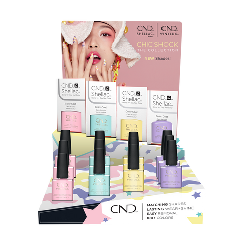 CND CHIC SHOCK COLLECTION DISPLAY 24 CT - Nails Plus Depot