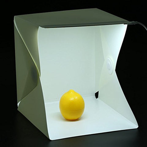 "Foldable & Portable Photo Studio Lightbox 9"" Includes LED / USB cable / White & Black background"