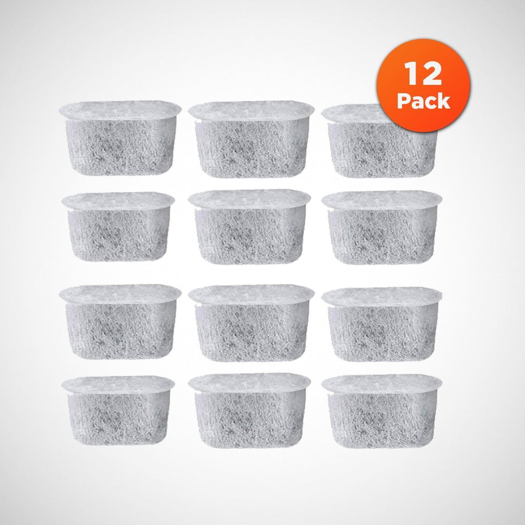 BrewMiller 12-Pack Universal Fit Cuisinart Charcoal Water Filters - Replacement Charcoal Water Filters for CUISINART Coffee Maker