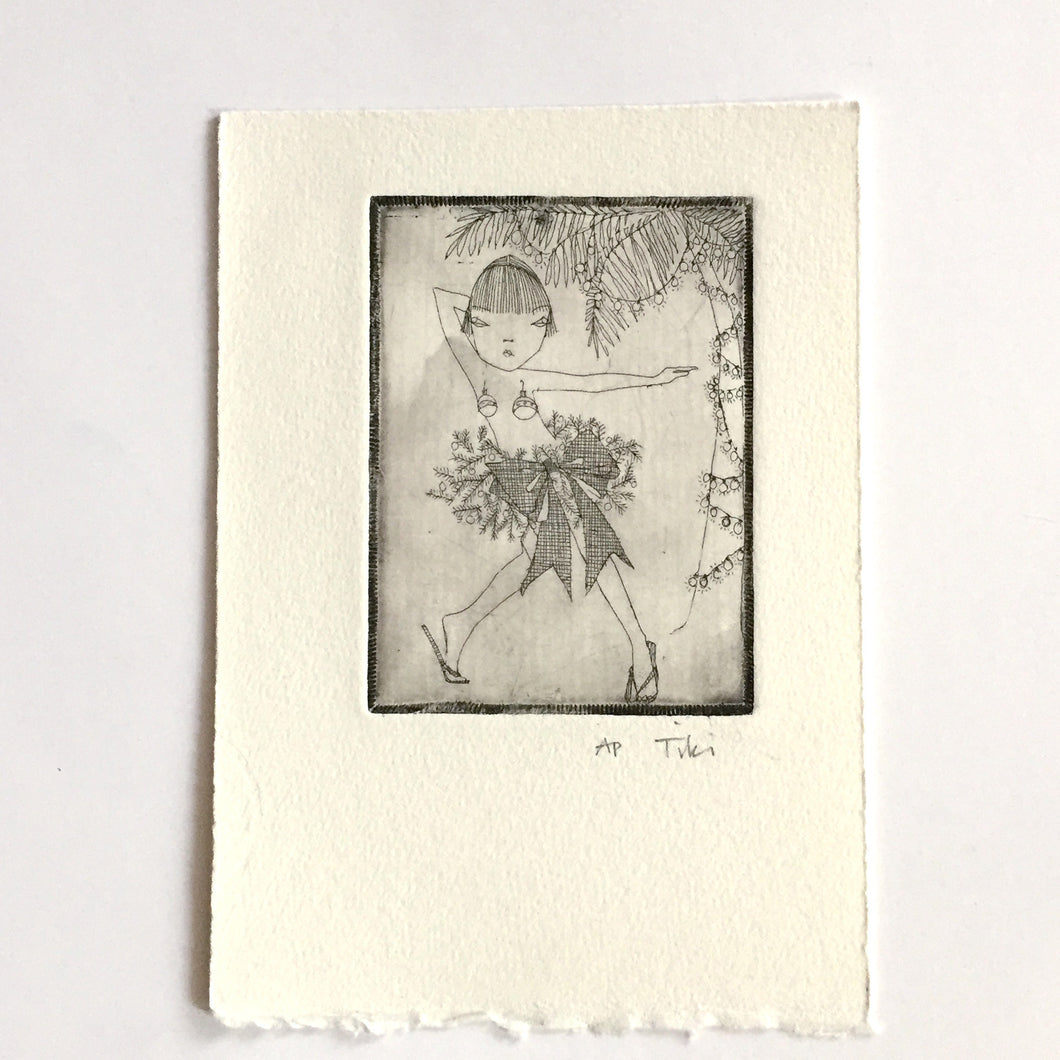 holiday etching #1