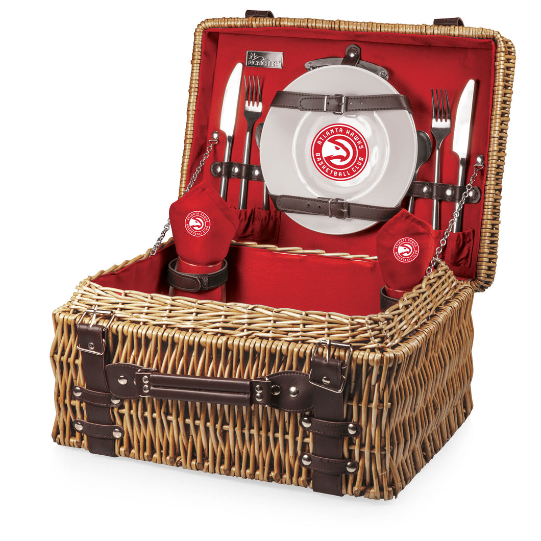 Atlanta Hawks - 'Champion' Picnic Basket by Picnic Time (Red) -PASSIONFORGAME
