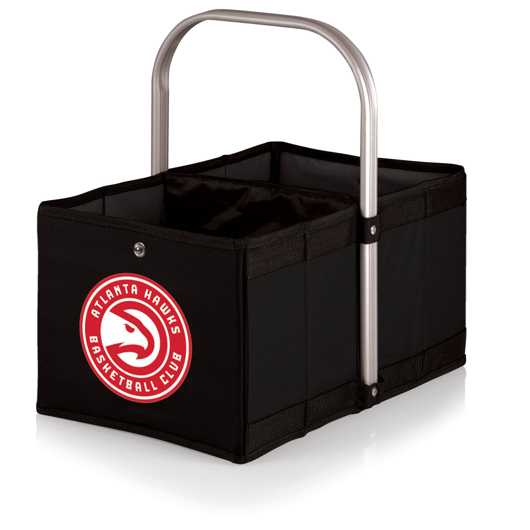 Atlanta Hawks - 'Urban Basket' Collapsible Tote by Picnic Time (Black) -PASSIONFORGAME