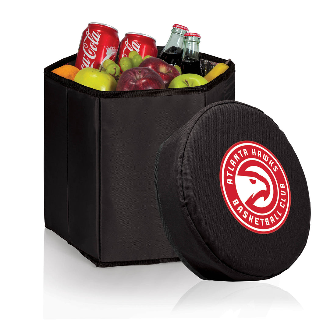 Atlanta Hawks - 'Bongo' Cooler & Seat by Picnic Time (Black) -PASSIONFORGAME