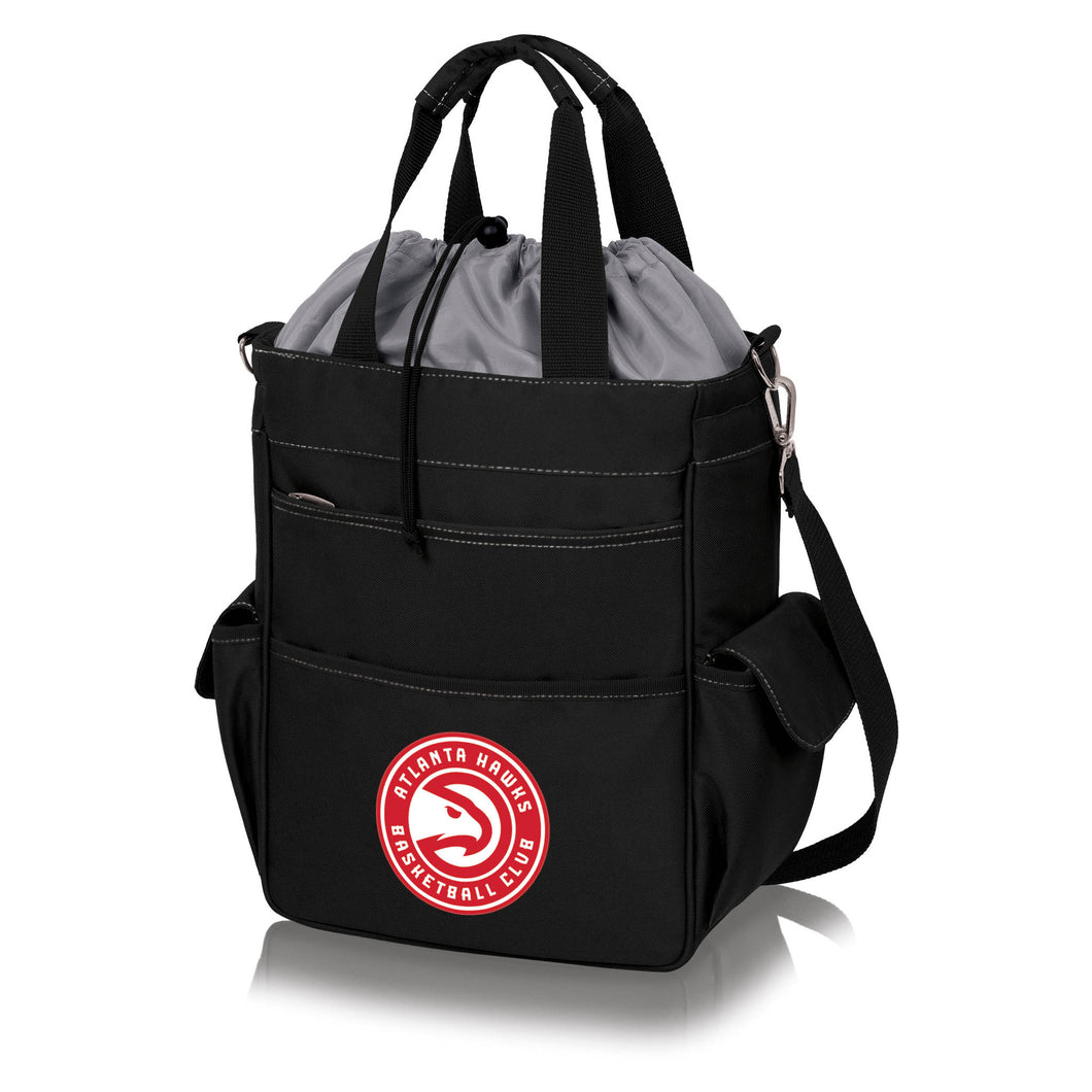 Atlanta Hawks - 'Activo' Cooler Tote by Picnic Time (Black) -PASSIONFORGAME