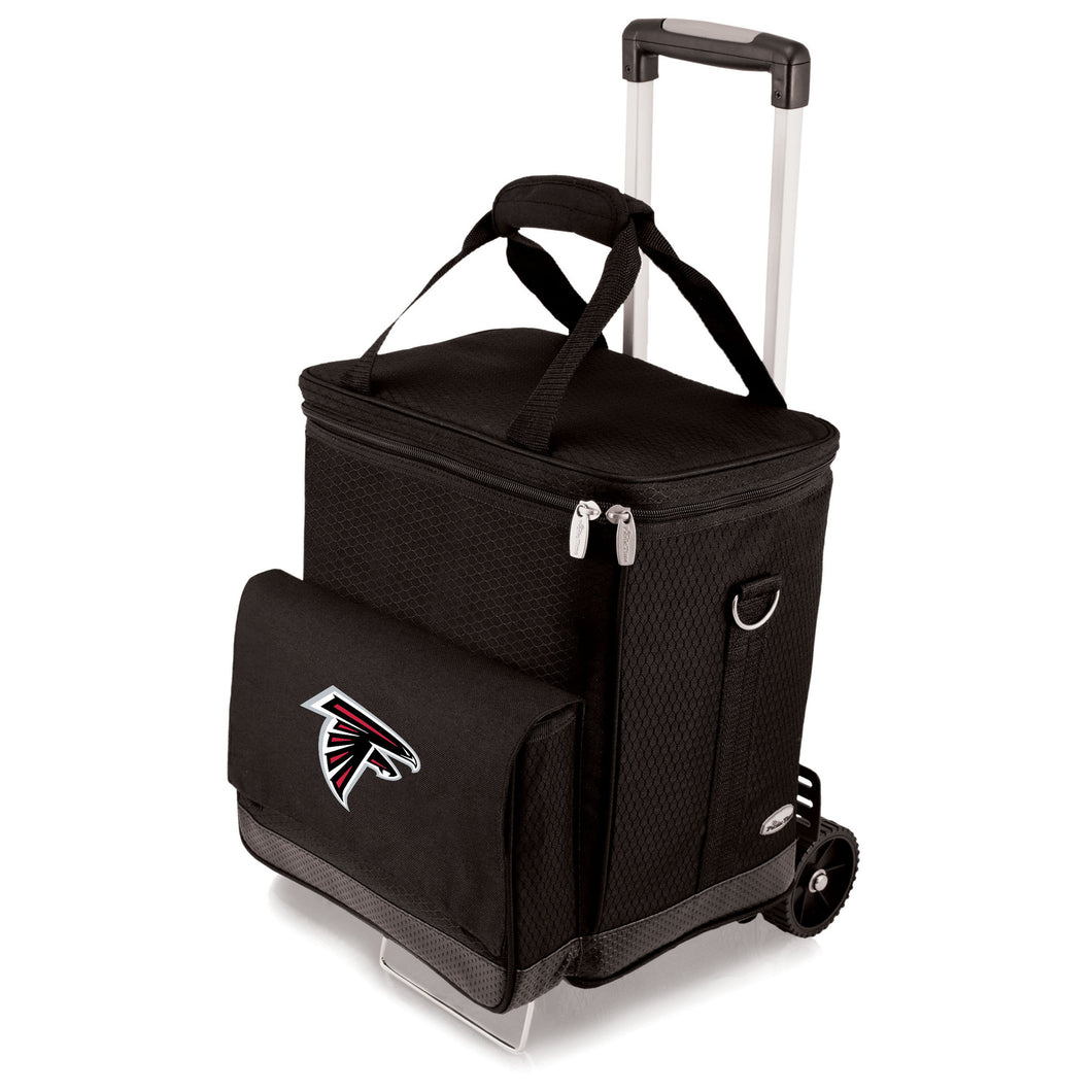 Atlanta Falcons - Cellar 6-Bottle Wine Carrier & Cooler Tote with Trolley -PASSIONFORGAME
