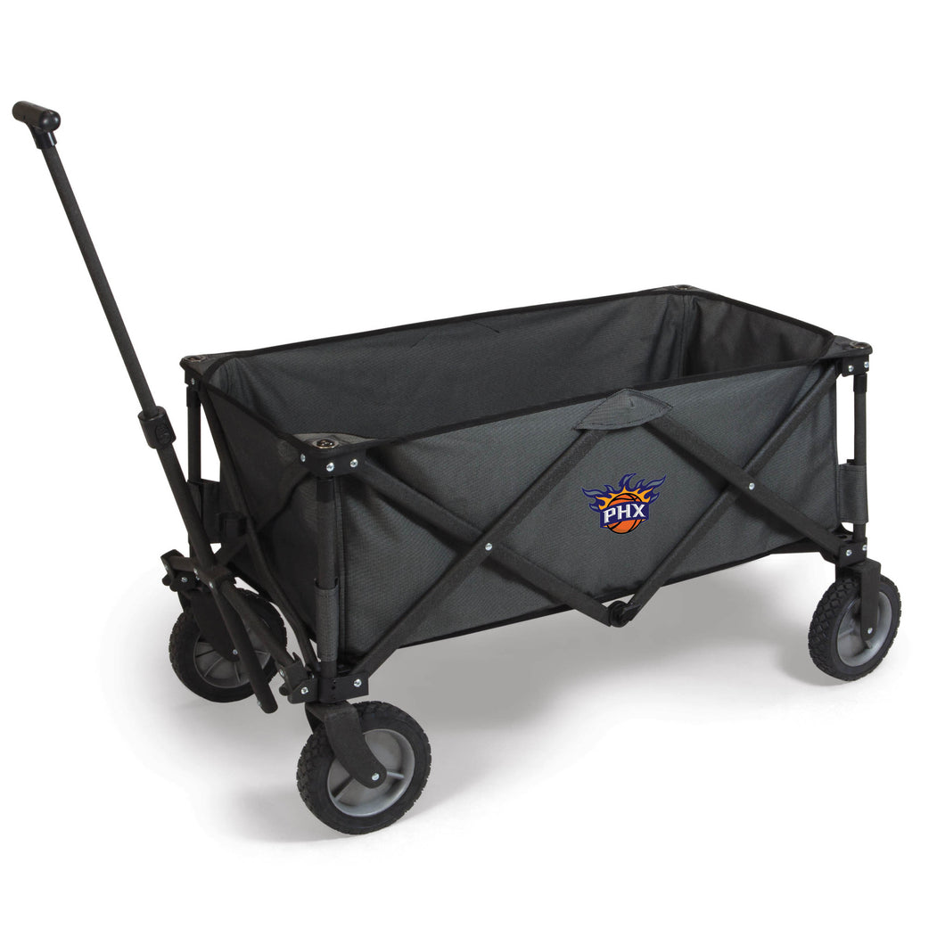 Phoenix Suns - 'Adventure Wagon' Folding Utility Wagon by Picnic Time (Dark Grey) -PASSIONFORGAME