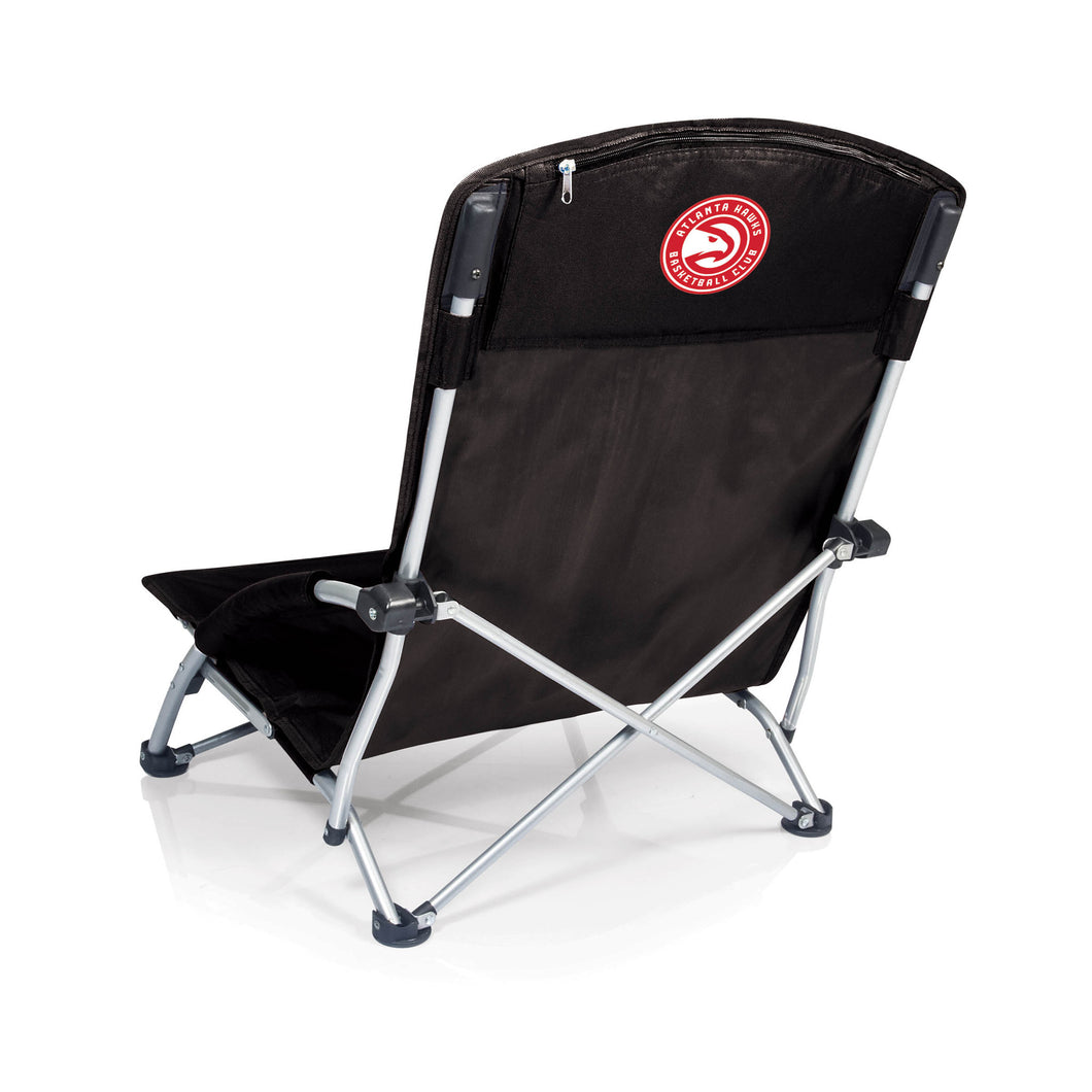 Atlanta Hawks - 'Tranquility' Beach Chair by Picnic Time (Black) -PASSIONFORGAME