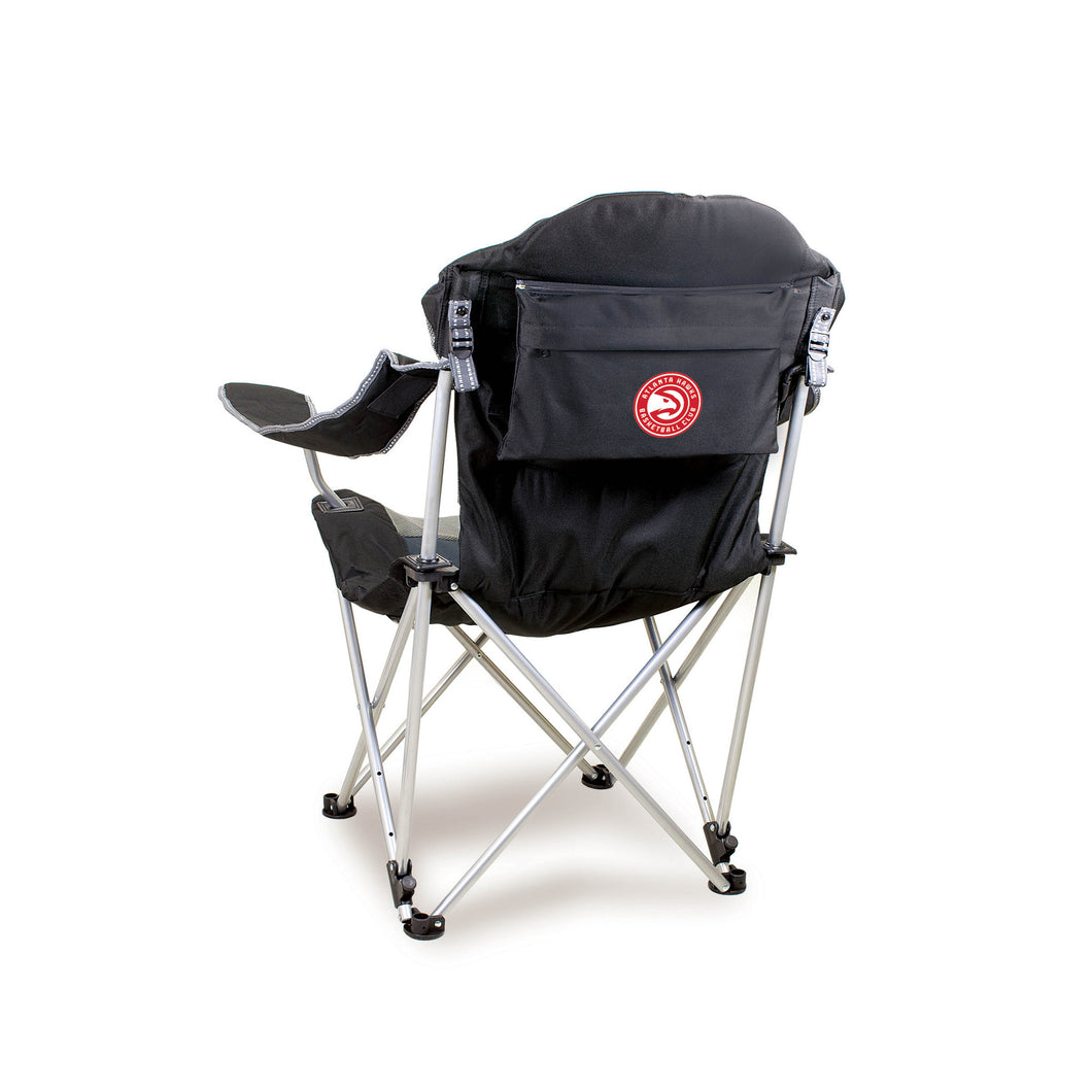Atlanta Hawks - Reclining Camp Chair by Picnic Time (Black) -PASSIONFORGAME