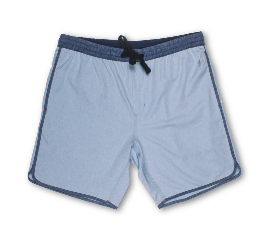 Ice Blue Drawstring Shorts