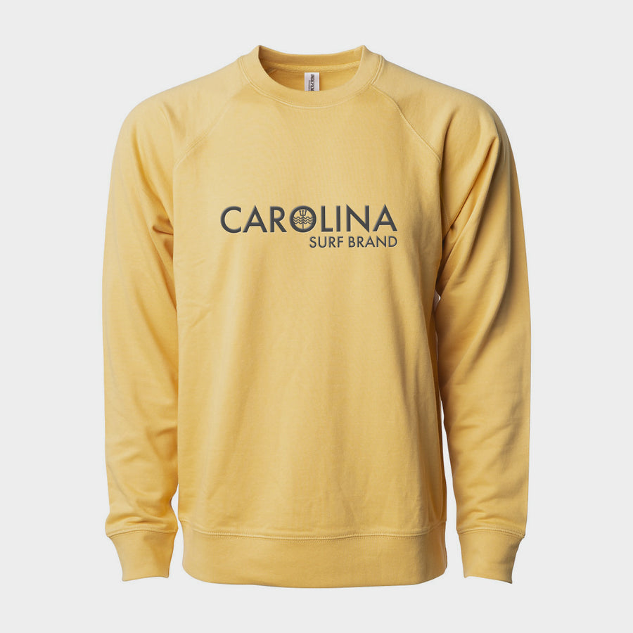 Embroidered Lightweight Crew Harvest Gold