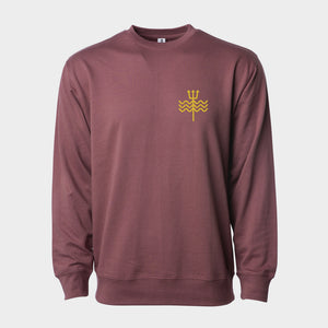 Trident Embroidered Lightweight Crew Sweatshirt