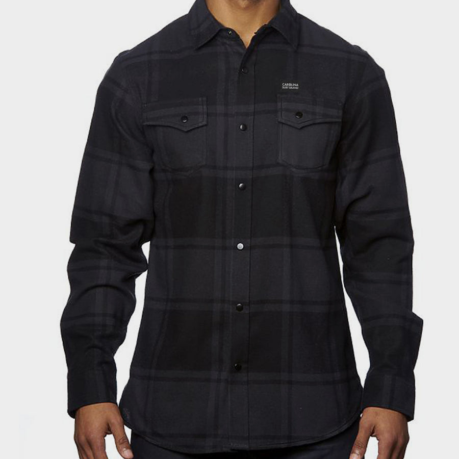CSB Flannel Black Snaps