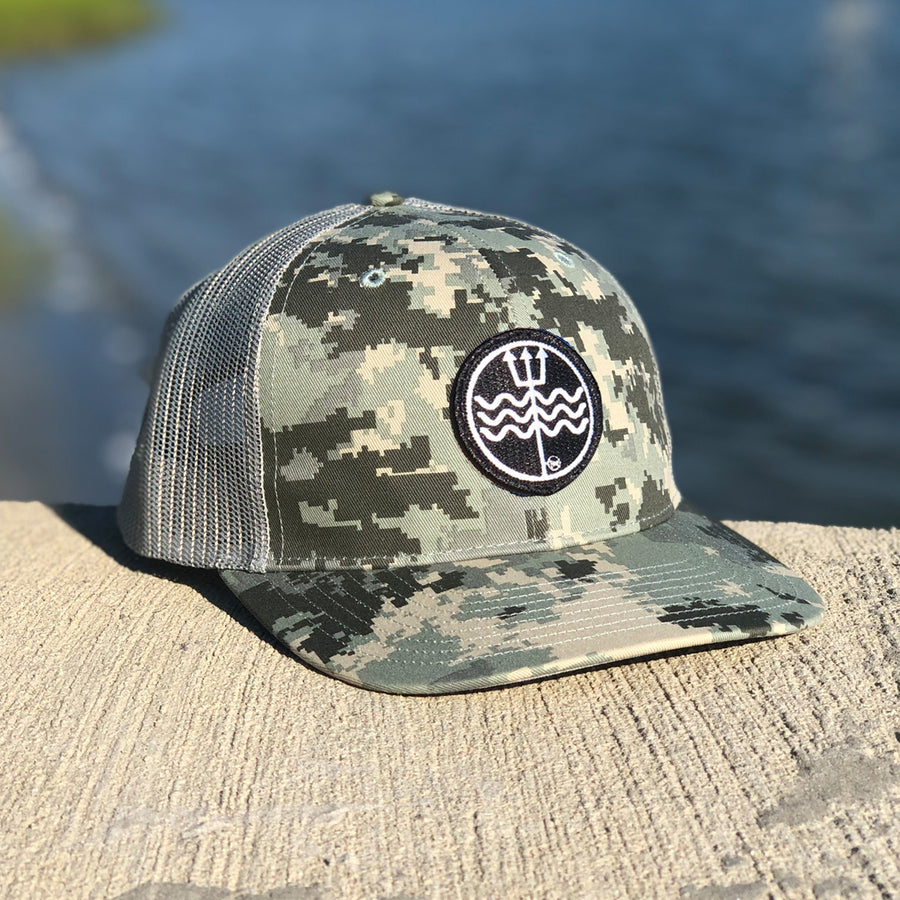 Real Country Camo Trident Logo