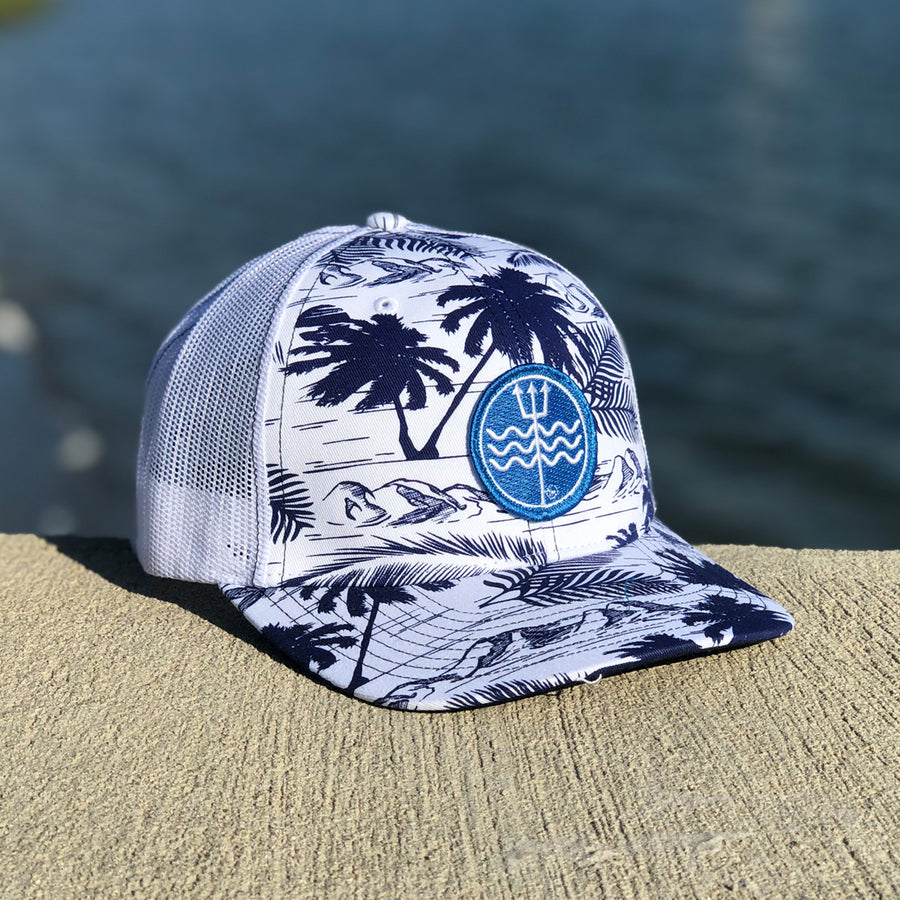 Mesh Palm Hat Blue