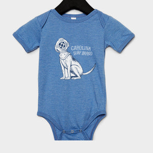 Diver Doggy Onesie Blue