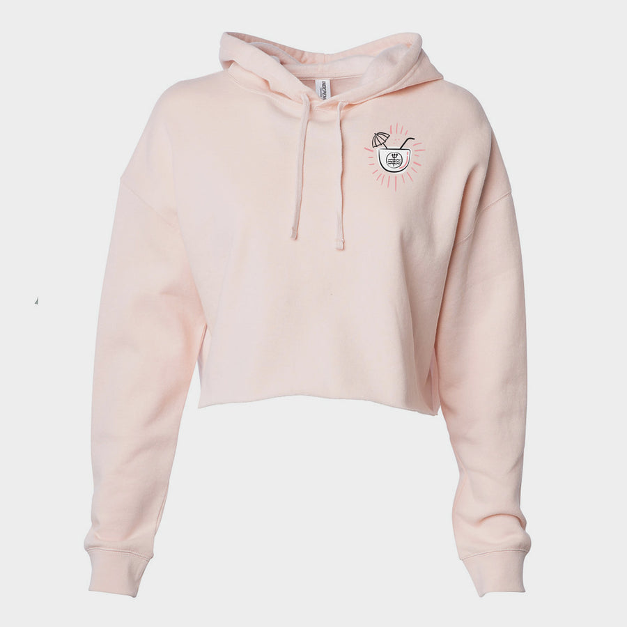 Surf and Sip Cropped Hoodie