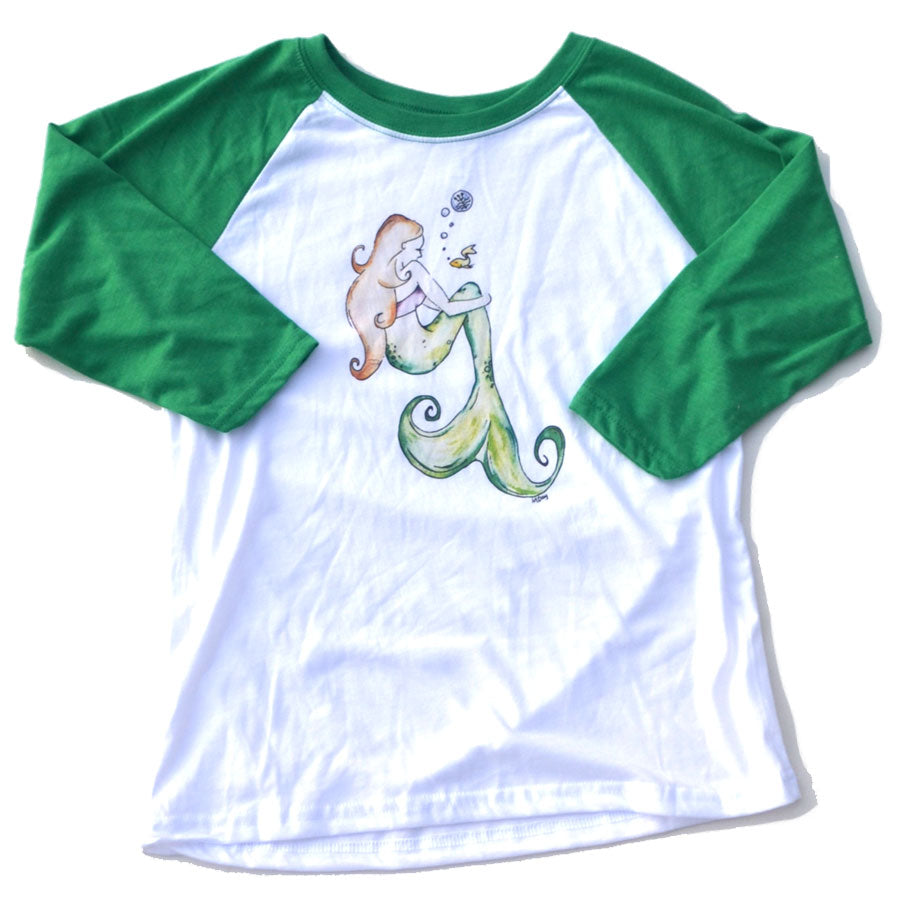 Mermaid Raglan in Youth Sizes