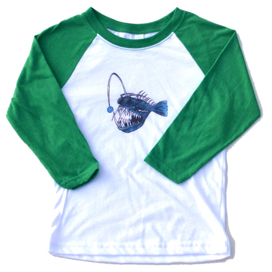 Angler Fish Raglan in youth sizes