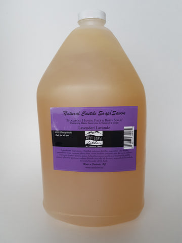 West Coast Lather 4L Refill Jug - Lavender Liquid Castile Soap