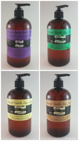 West Coast Lather Natural Liquid Castile Soap Multipack - Case of 12 (16oz.) bottles