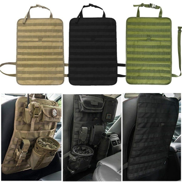 "Tactical MOLLE Car Seat Organizer - Black Basic 14""-22"""