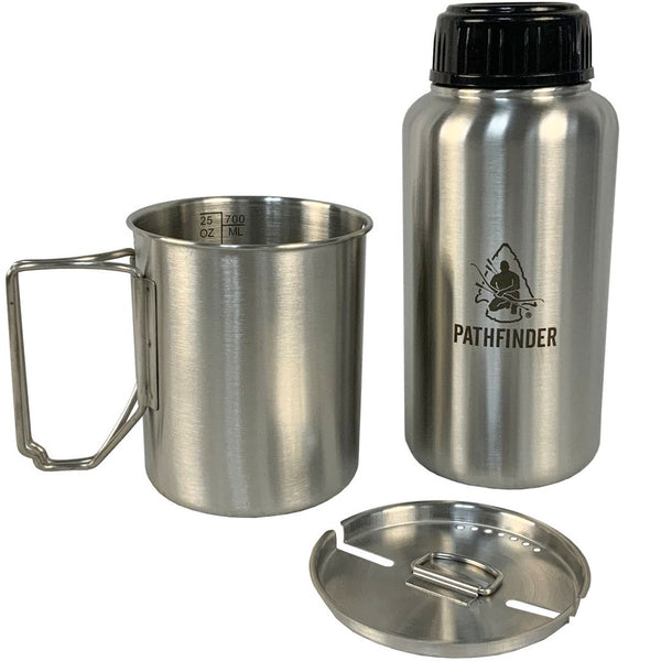 Pathfinder 32oz. Stainless Steel Water Bottle & Nesting Cup Set