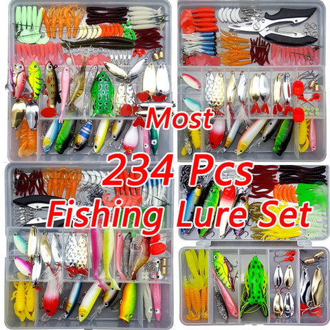 Fishing Lure & Tackle set - 234 pc
