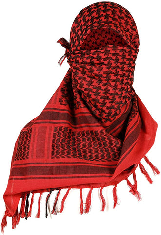 Shemagh Head Wrap Red/BLK