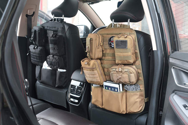 Tacticool MOLLE Car Seat Organizer - Coyote Deluxe