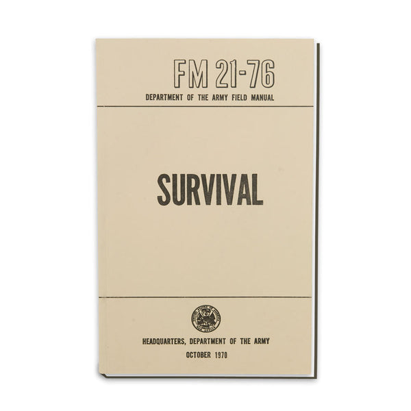 US Army Field Manual - Survival