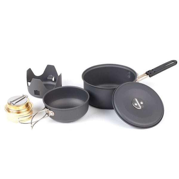 NDuR Mini Cookware Kit w/Alcohol Burner