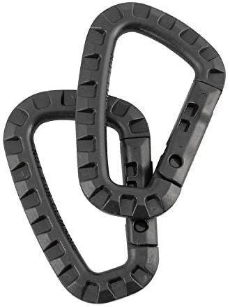 Tactical Polymer Carabiner - Black Pair