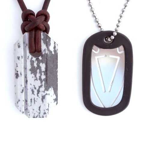 Viking Whetstone Pendant | Knife Sharpening Necklace