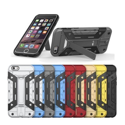 Ironman Armor Hybrid Hard PC+TPU iPhone Case with Stand and Bank Card Slot, CA003 - We Love Apple