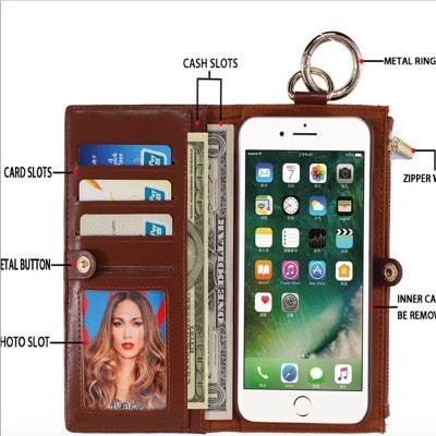 Multifunction Leather Wallet iPhone Case, CA024