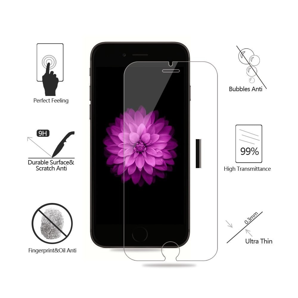 Ultra Thin 0.26mm Premium Tempered Glass Screen Protector HD Toughened Protective Film+Cleaning Kit - We Love Apple