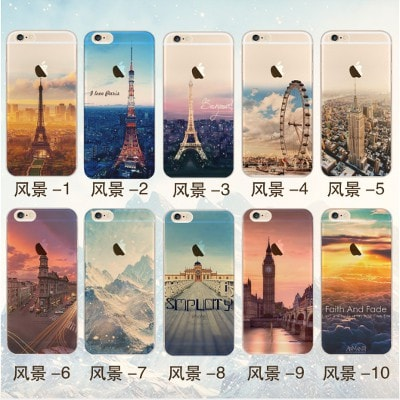 Landscape silicone color painting iPhone Case, 20 Designs to choose. CA027 - We Love Apple