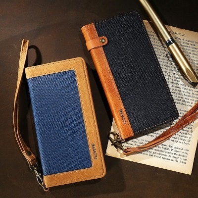 Classic canvas wallet iPhone case, CA011 - We Love Apple