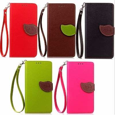 Flip leaf Leather Wallet iPhone case, CA010 - We Love Apple