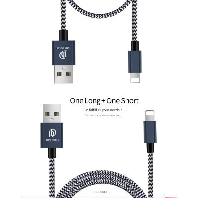 (0.2M + 1M) 2 in 1 Aluminum Alloy Faster Charging Cable Package, SJX004 - We Love Apple