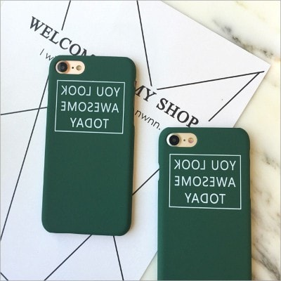 """You look awesome today"" Funny Hard iPhone Case, CA045 - We Love Apple"