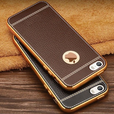 Retro Luxury Ultra-thin Electroplating Gold Edge Frame iPhone case, CA009