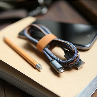 Blue Denim IPhone Cable, Apple MFI Certified High-Quality, SJX001 - We Love Apple