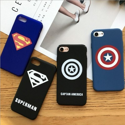 Marvel superhero hard iPhone case, Captain America, Superman, CA047 - We Love Apple