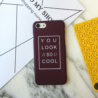 """You look so cool"" Funny Hard iPhone Case, CA044 - We Love Apple"